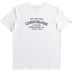Quiksilver Wider Miless Maglietta a Maniche Corte Uomo, bianco